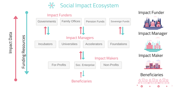 Impact ecosystem and knowledge graph