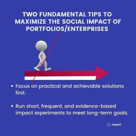Maximize the social impact of Portfolios