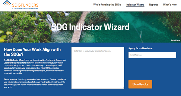 SDG Indicator Wizard