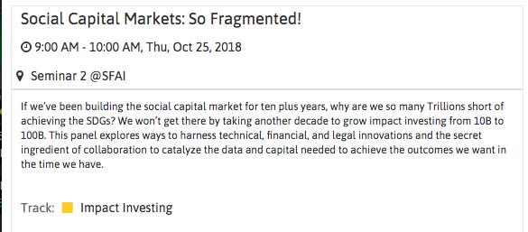 Socap 2018 fragmented markets