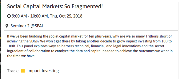 Socap 2018 fragmented markets