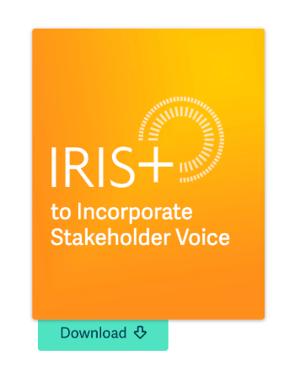 iris+ stakeholder voice report